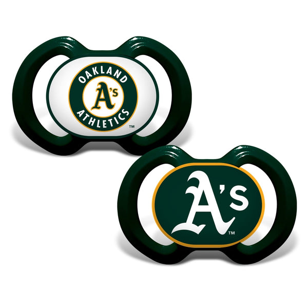 Gen. 3000 Pacifier 2-Pack - Oakland Athletics-justbabywear