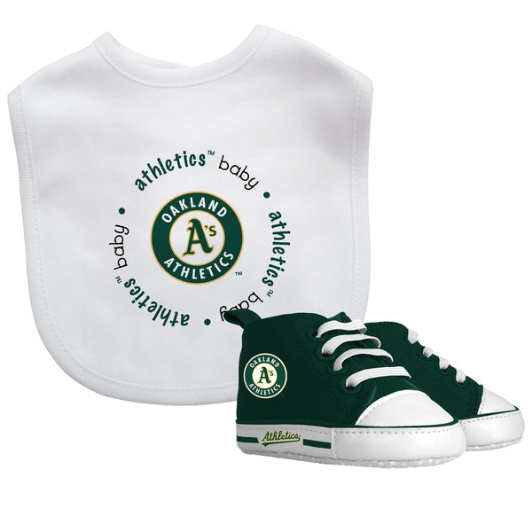 Bib & Prewalker Gift Set - Oakland Athletics-justbabywear