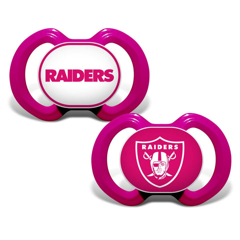 Gen. 3000 Pacifier 2-Pack - Pink - Oakland Raiders-justbabywear