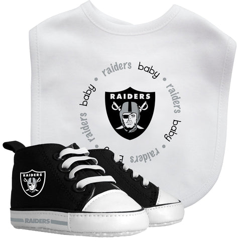 Bib & Prewalker Gift Set - Oakland Raiders-justbabywear