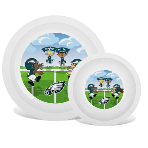 Plate & Bowl Set - Philadelphia Eagles-justbabywear