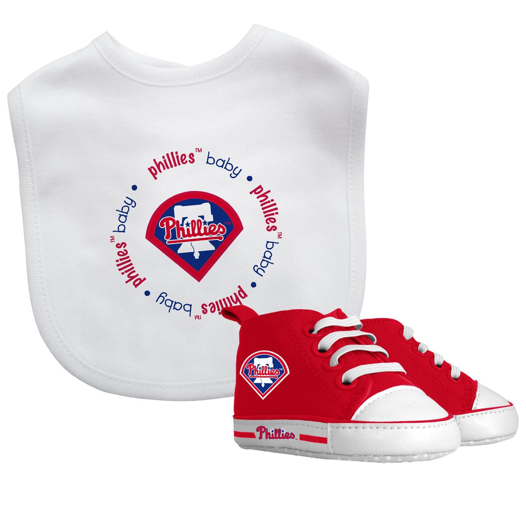 Bib & Prewalker Gift Set - Philadelphia Phillies-justbabywear