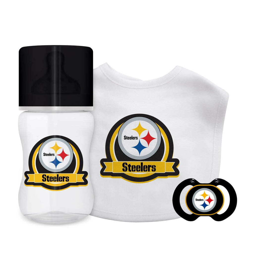 3-Piece Gift Set - Pittsburgh Steelers-justbabywear