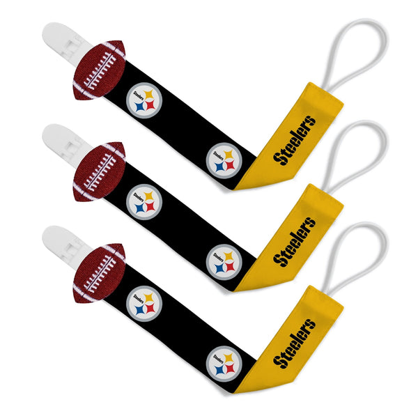 Pacifier Clip (3 Pack) - Pittsburgh Steelers-justbabywear