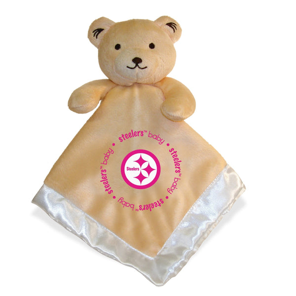 Security Bear - Pink Logo - Pittsburgh Steelers-justbabywear