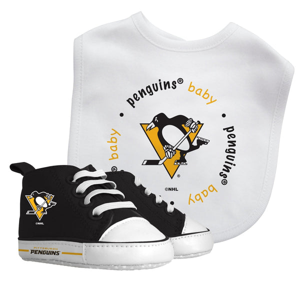 Bib & Prewalker Gift Set - Pittsburgh Penguins-justbabywear