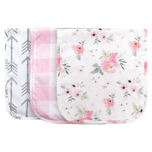 Pink Collection Burp Cloths 3Pc