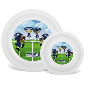 Plate & Bowl Set - Seattle Seahawks-justbabywear