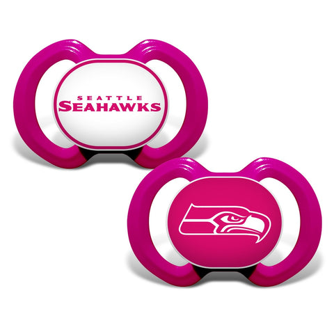 Gen. 3000 Pacifier 2-Pack - Pink - Seattle Seahawks-justbabywear