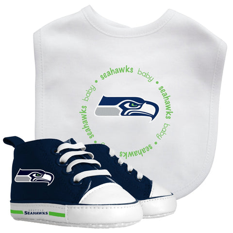 Bib & Prewalker Gift Set - Seattle Seahawks-justbabywear