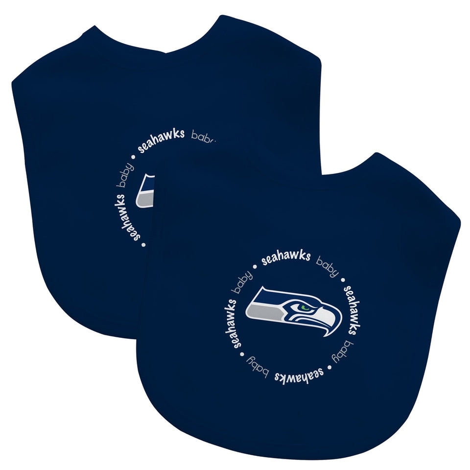 Bibs (2 Pack) - Seattle Seahawks-justbabywear