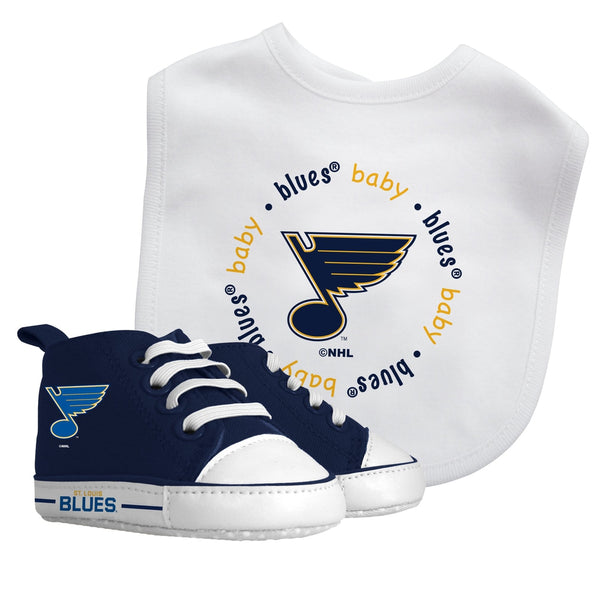Bib & Prewalker Gift Set - St. Louis Blues-justbabywear
