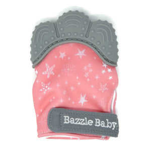 Hand Fit Stars on Pink Chew Mitt - Teether for Infants