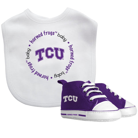 Bib & Prewalker Gift Set - Texas Christian University-justbabywear