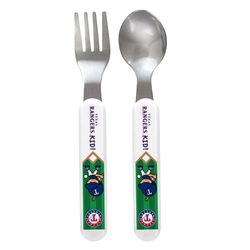 Fork & Spoon Set - Texas Rangers-justbabywear
