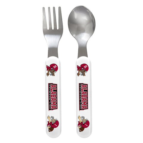 Fork & Spoon Set - Alabama, University of-justbabywear