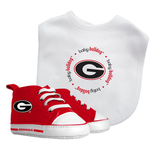 Bib & Prewalker Gift Set - Georgia, University of-justbabywear