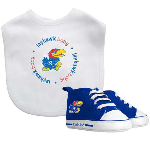 Bib & Prewalker Gift Set - Kansas, University of-justbabywear