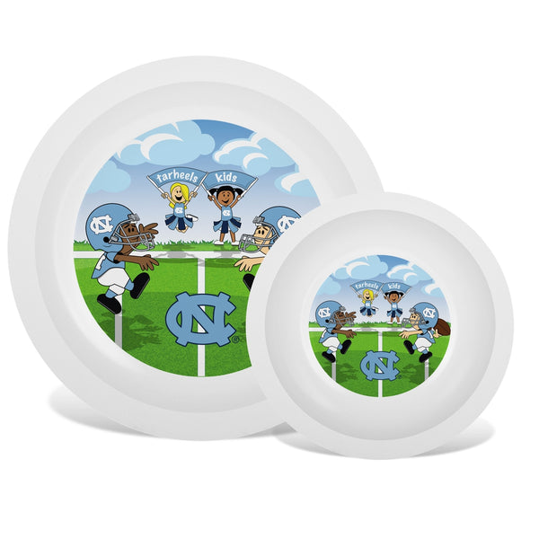 Plate & Bowl Set - North Carolina, University of-justbabywear