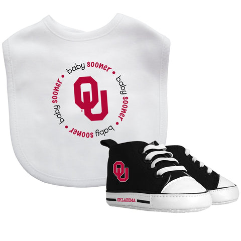 Bib & Prewalker Gift Set - Oklahoma, University of-justbabywear