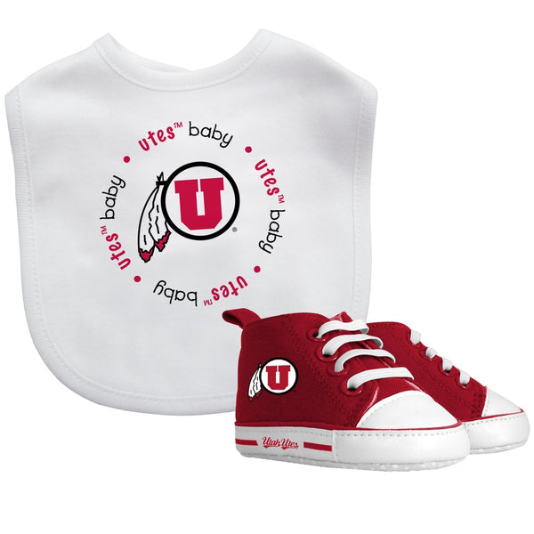 Bib & Prewalker Gift Set - Utah, University of-justbabywear