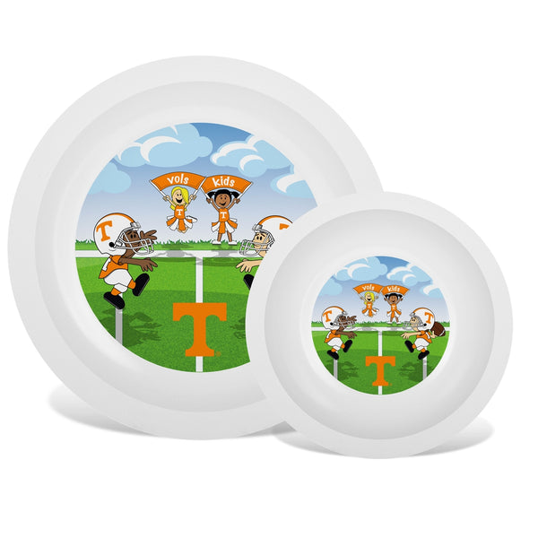 Plate & Bowl Set - Tennessee, University of-justbabywear