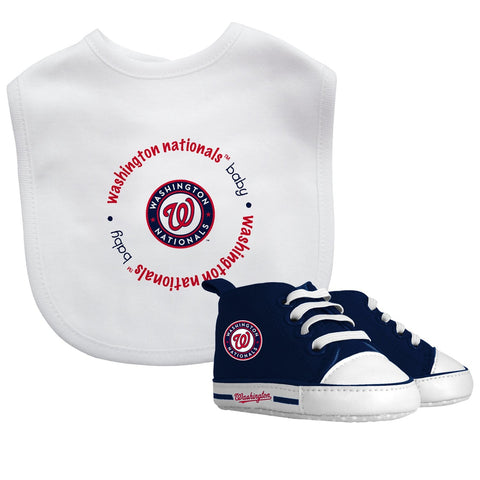 Bib & Prewalker Gift Set - Washington Nationals-justbabywear