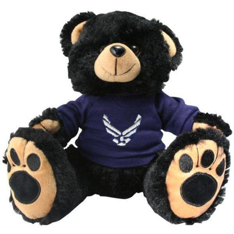 Air Force Black Plush Toy Teddy Bear-justbabywear