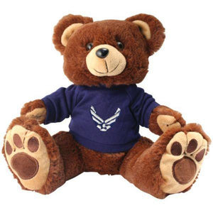 Air Force Brown Plush Toy Bear with Big Paw-justbabywear