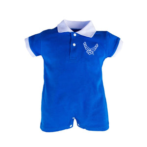 Air Force Infant Blue Romper with USAF Logo-justbabywear