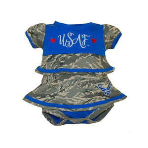 Air Force Infant Ruffle Dress-justbabywear