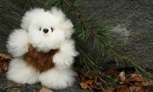 Alpaca Pocket Teddy Bears