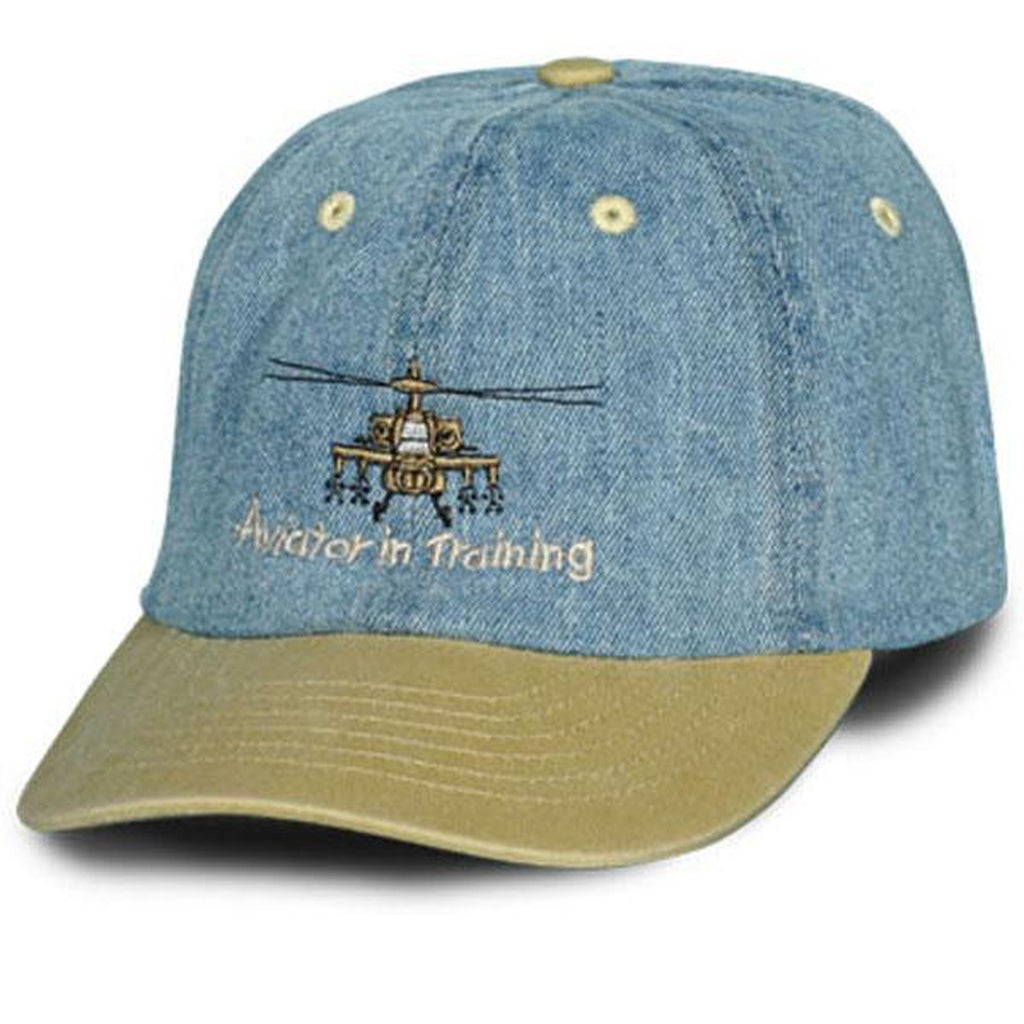 Army Aviator in Training Khaki Bill Ball Cap-justbabywear