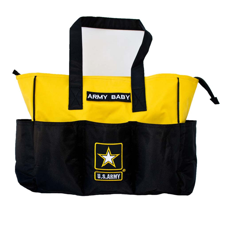 Embroidered Army Diaper Bag-justbabywear