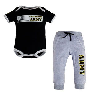 Army Infant 2pc Jogger Set-justbabywear