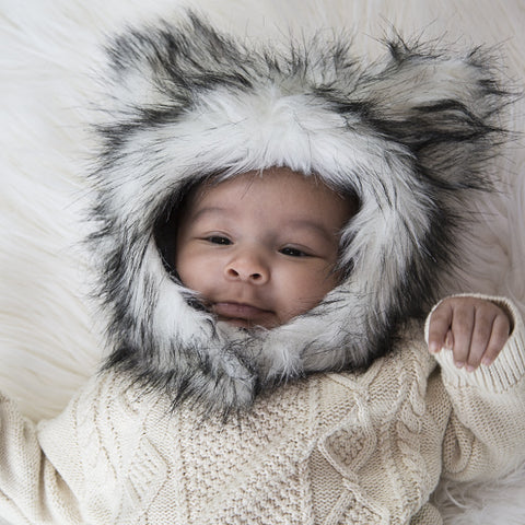 Wolf Faux Fur Eskimo Hat for Infants & Toddlers