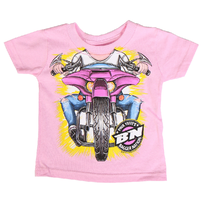 Pink Bagger Nation Headless Shirt for Baby Girls and Toddlers
