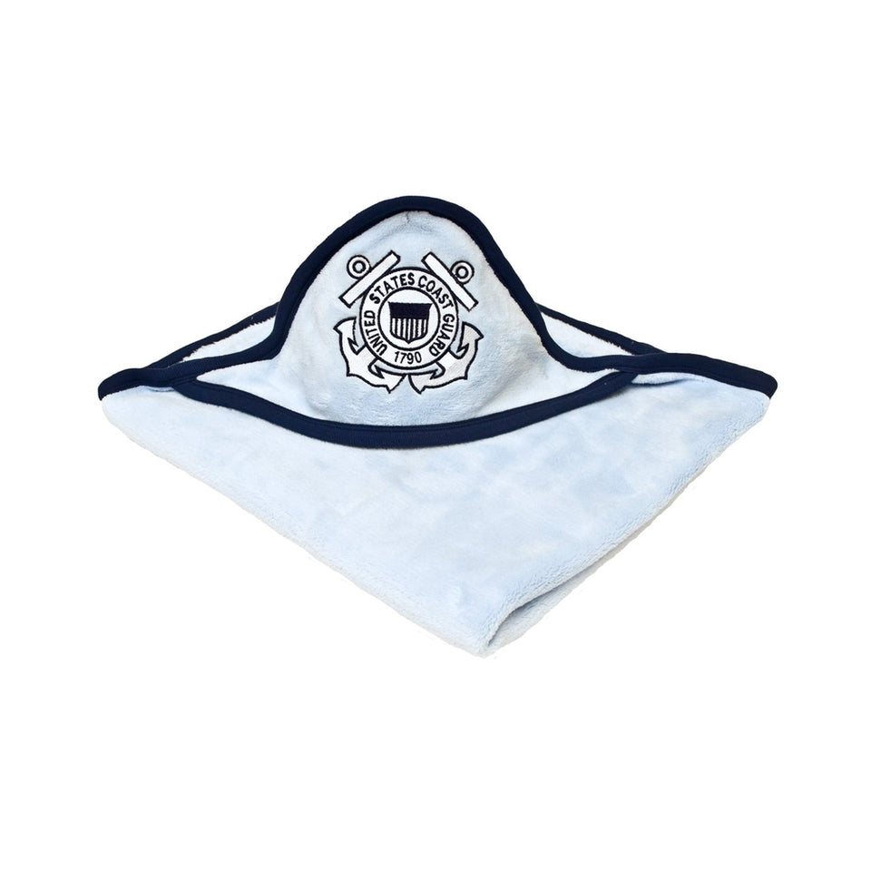 Blue Soft Fleece Coast Guard Baby Blanket-justbabywear