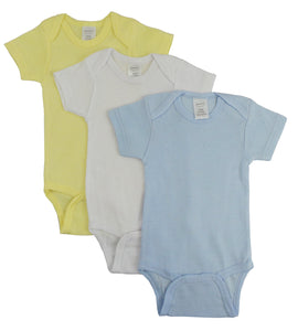 Plain Short Sleeve Bodysuits in Variety Pack for Baby Boys