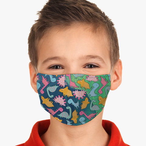 Youth Dinosaurs Design Reusable Washable Face Cover