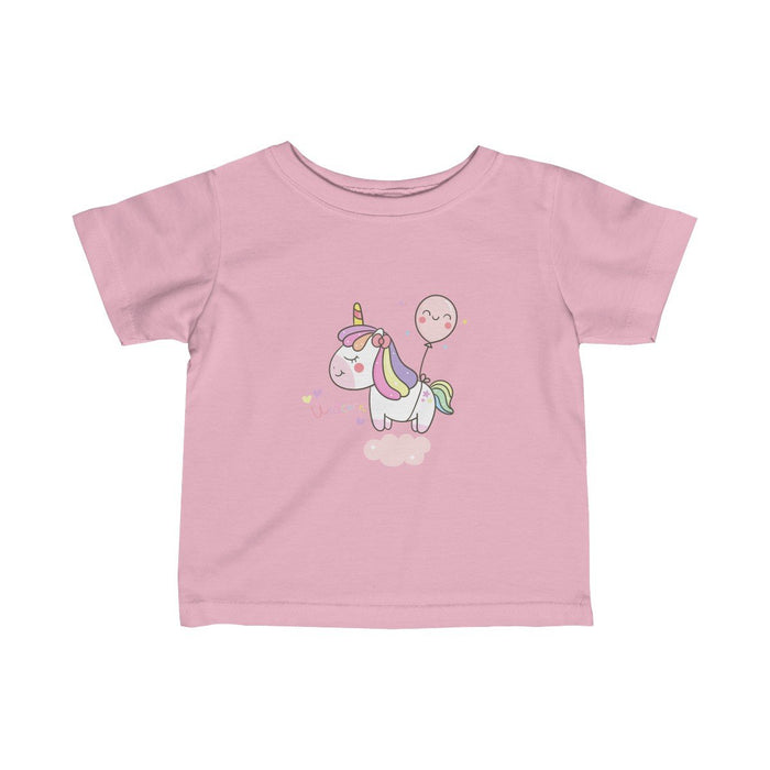 Cute Unicorn with balloon Girls Tee