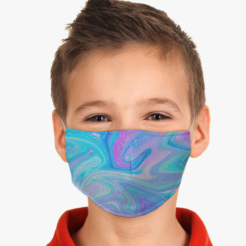 Youth Fantasy Reusable Washable Swirl Face Cover