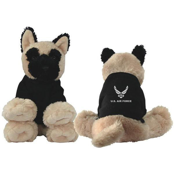 Hap Arnold Wing Embroidered Black Shirt Plush Dog Toy-justbabywear