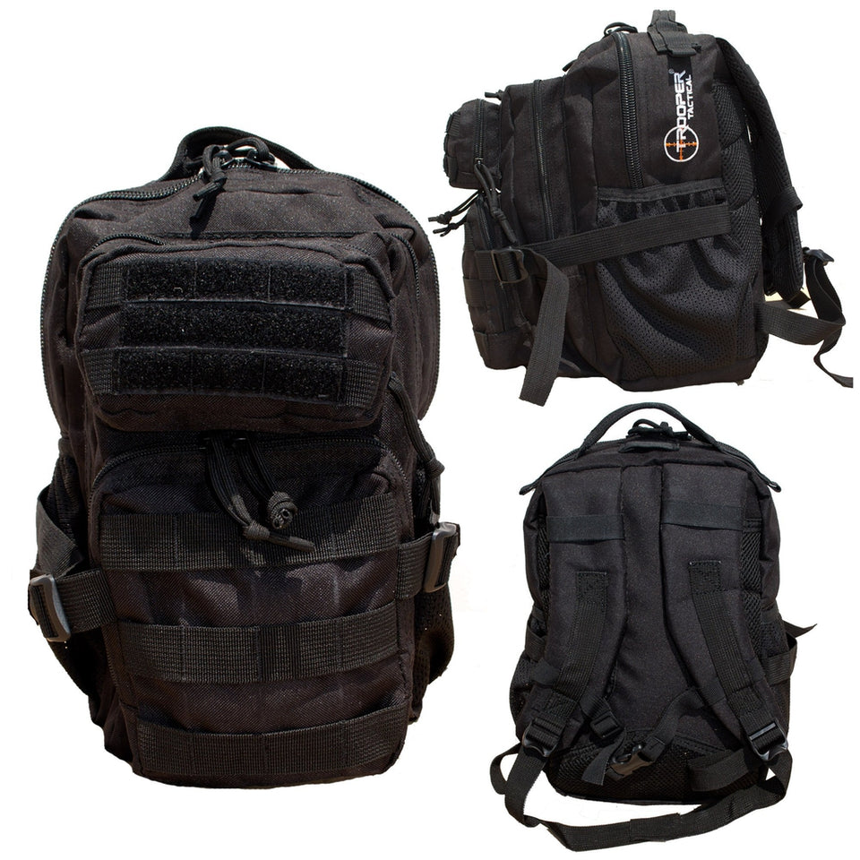 Kids Recon Black Tactical Backpack-justbabywear