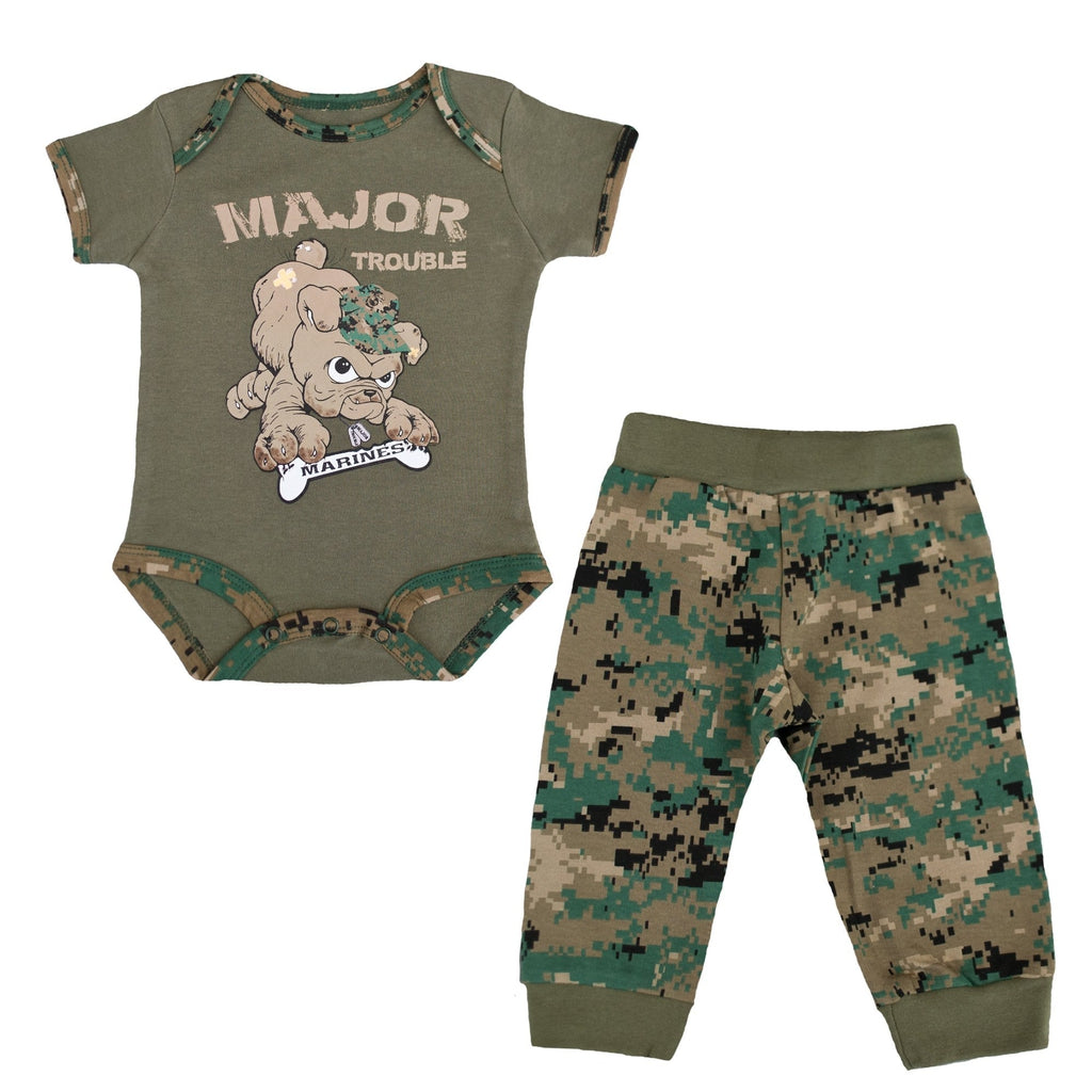"Marine 2 pc ""Major Trouble"" Woodland-justbabywear"