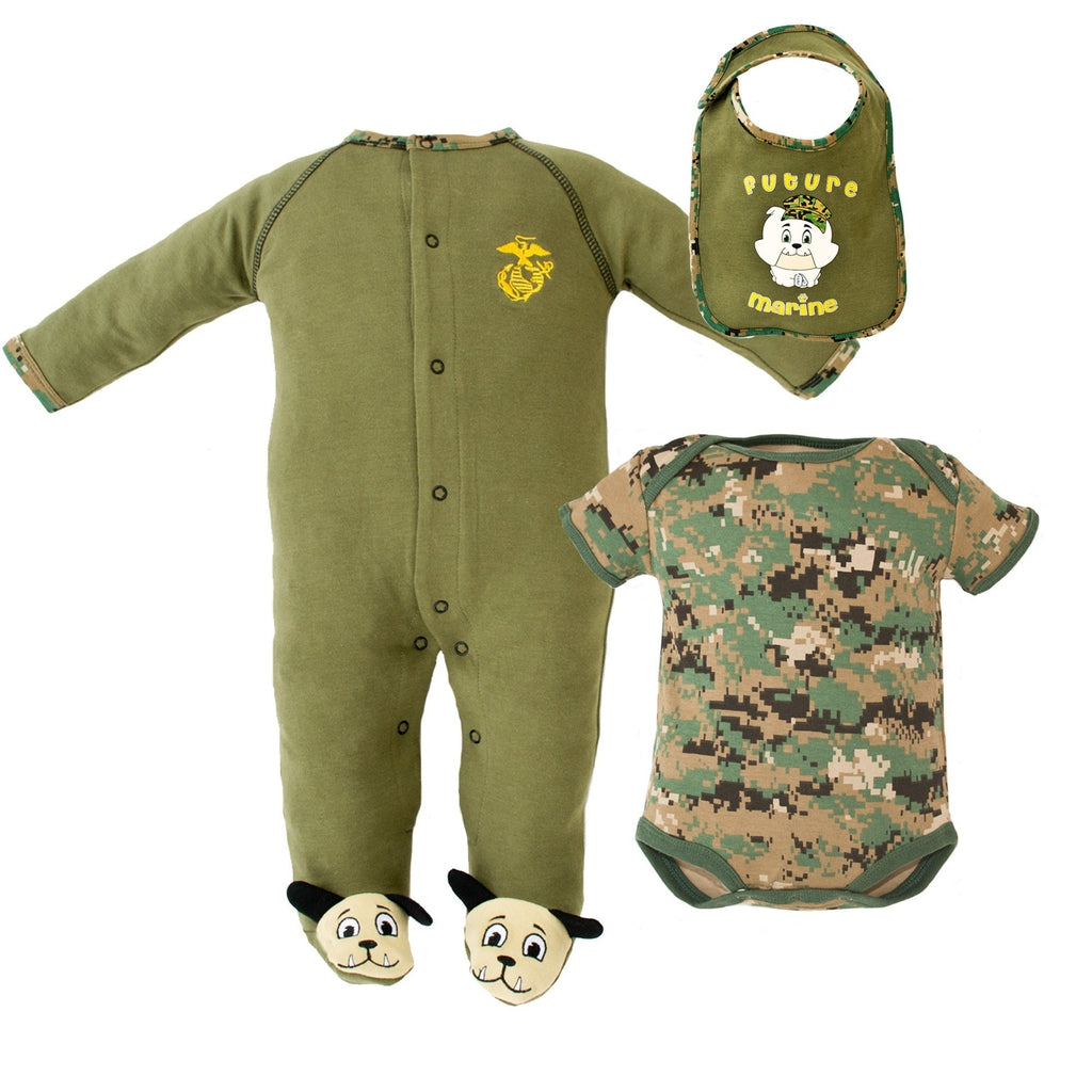 Marine 3pc Tiny Trooper Collection-justbabywear