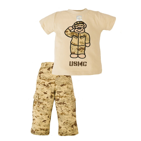 Marine Desert 2pc Toddler Teddy Bear Set-justbabywear