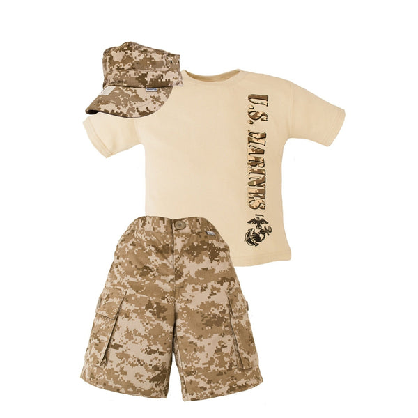 Marine Desert 3 Piece Short Set-justbabywear