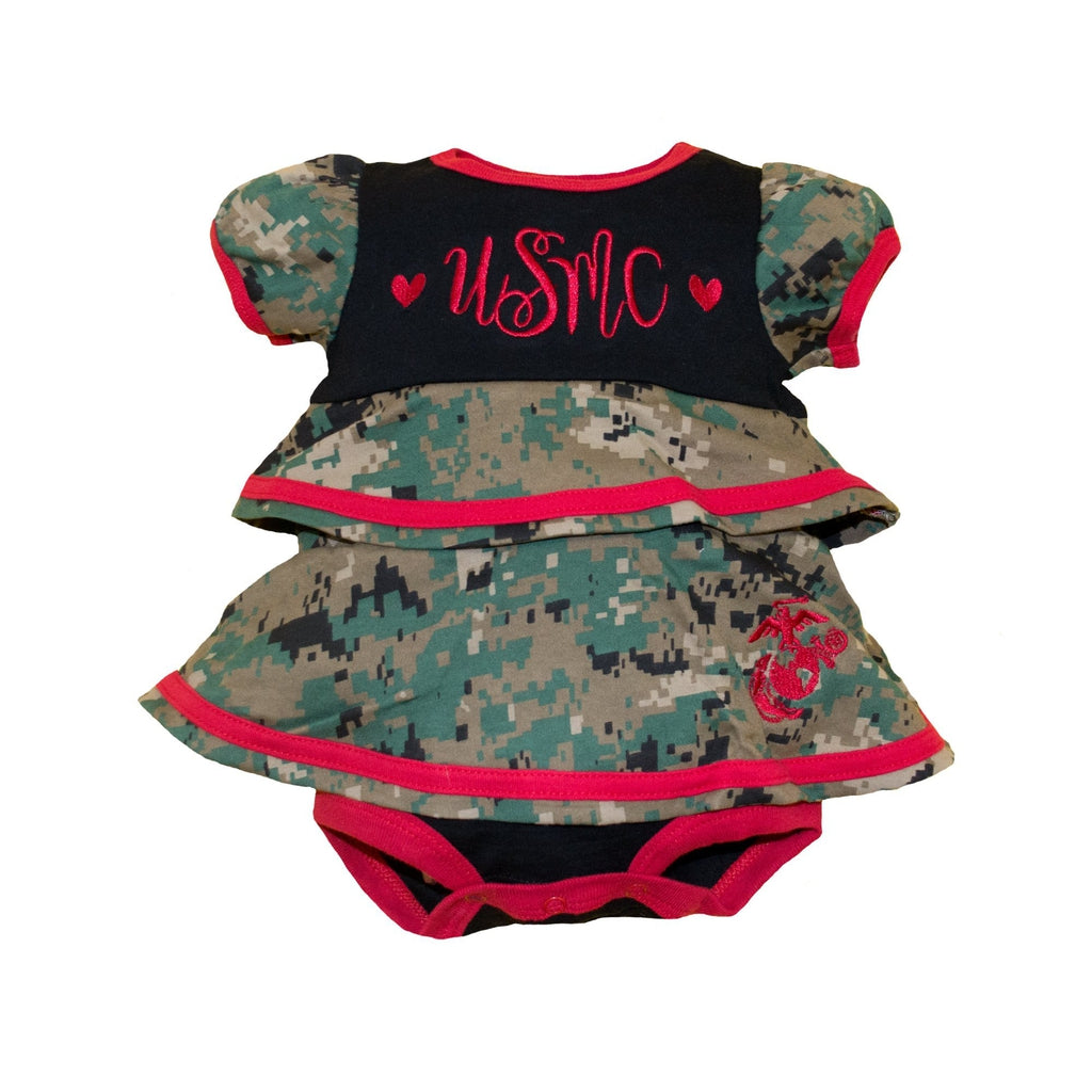 Marine Infant Ruffle Dress-justbabywear