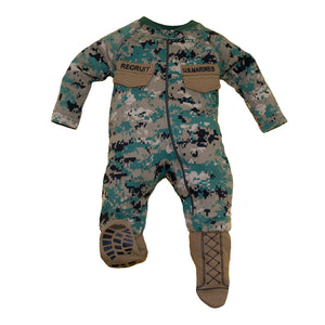 Marine Uniform Infant Crawler with Boots-justbabywear